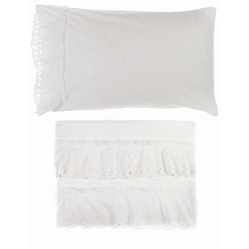 Cipria - Juego de sábanas blanco