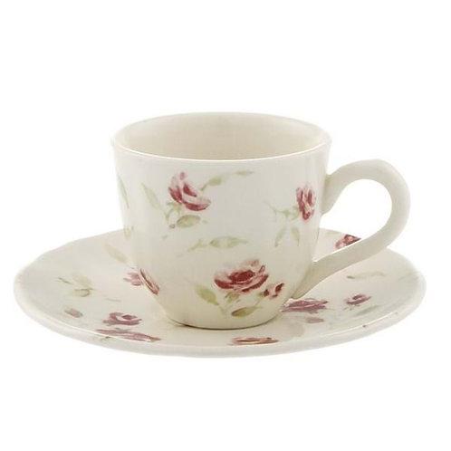 Floret - Taza café con plato