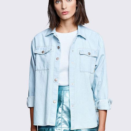 Camisa tejana manga larga de lyocel