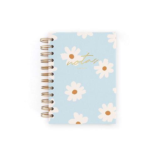 Cuaderno Mini Notas - Floral blue