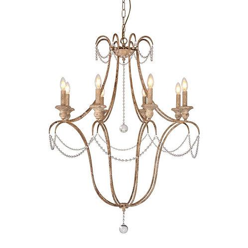 CHANDELIER - Lámpara metal 8 luces