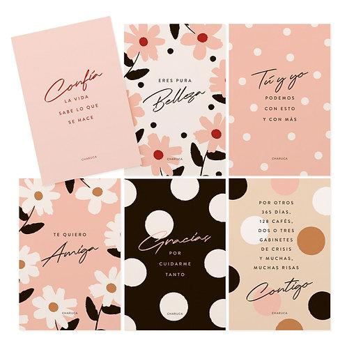 Set de postales Amor