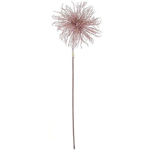 Flor decorativa Velvet - Rosa