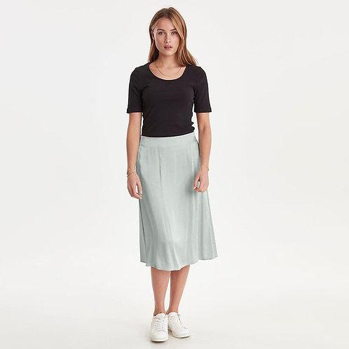Falda midi raso