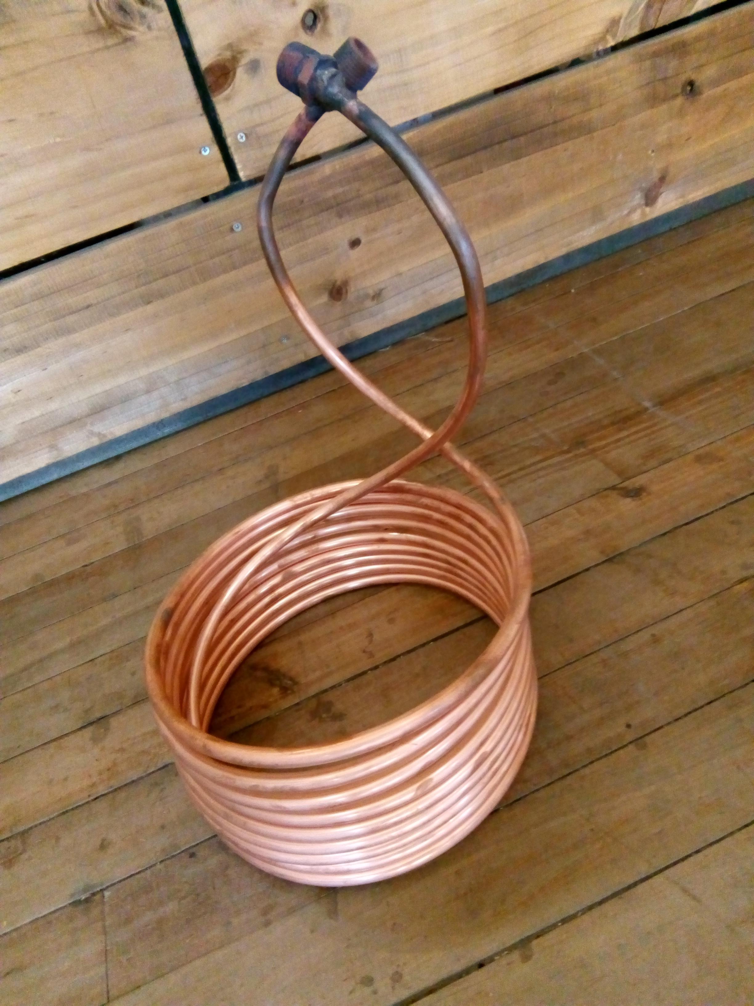 Serpentín de cobre