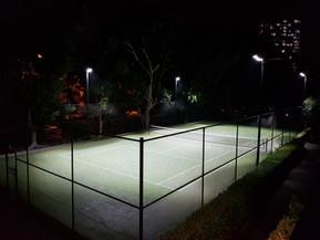 IWE Group Tennis Court LED Floodlighting Install