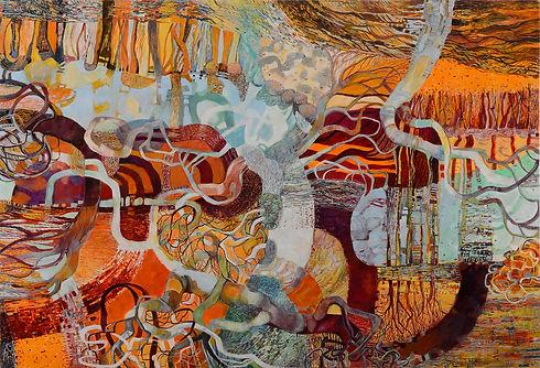 Nat Ward 'Horseshoe Lagoon#5'   oil on canvas 190cm x 130cm  2017.jpg