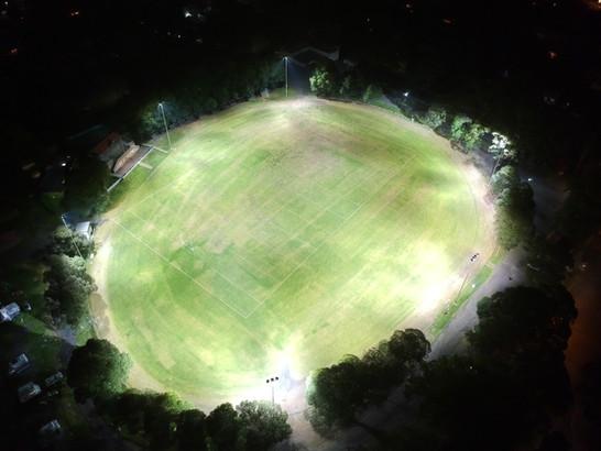 IWE Group Sports Ground LED Flood Lighting Install