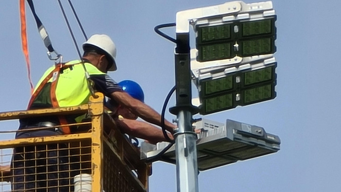 IWE Group LED Sports Floodlighting Installation