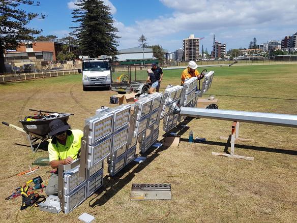 IWE Group LED Floodlighting Installation Team