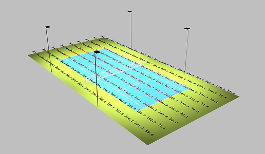 Tennis Court Lighting Simulation
