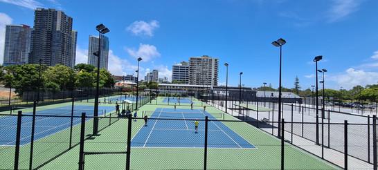 IWE Group Tennis Court Floodlighting Install Gold Coast