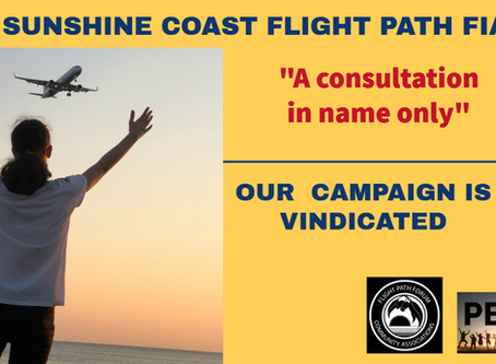 DAMNING FLIGHT PATH REPORT VINDICATES OUR CAMPAIGN