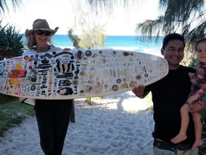 THE STORY OF THE RECYCLED SURFBOARD