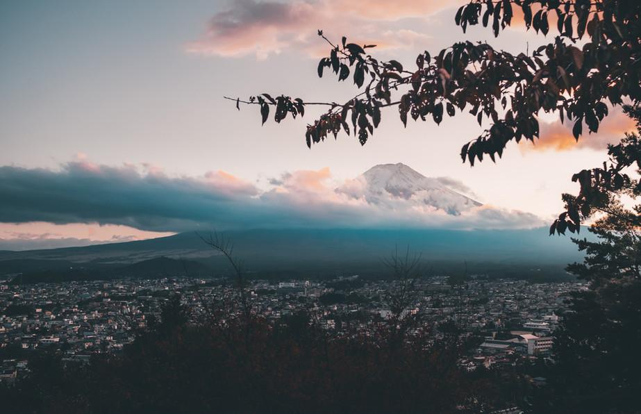 Mount Fuji Clad in Gold