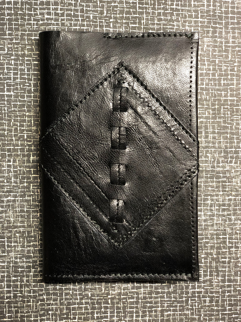 Leather Journal Cover from Reused Materi