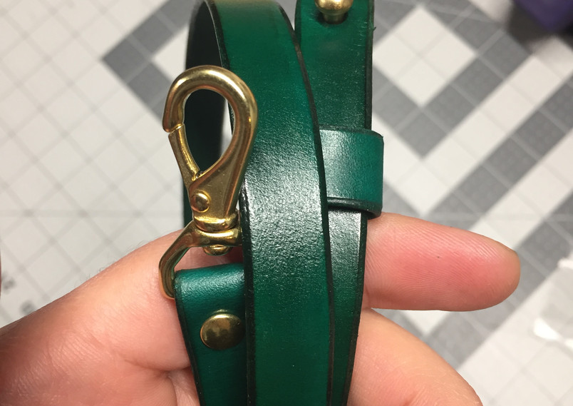 Handmade adjustable straps for the Green Round Bag