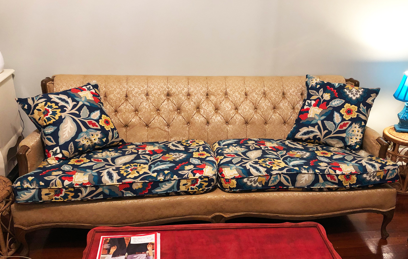 Reupholstered Antique Couch