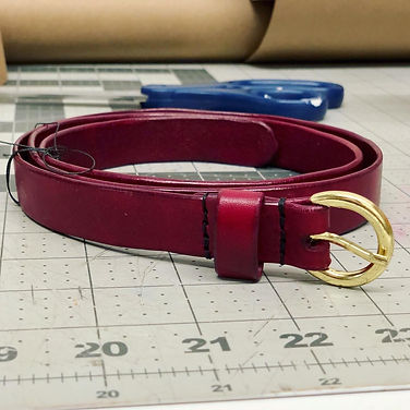 Red Bespoke Leather Belt
