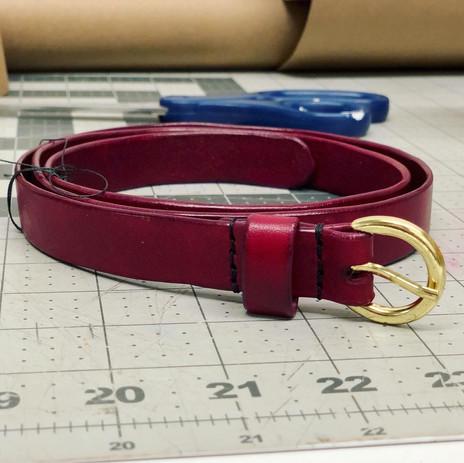Red Bespoke Leather Belt