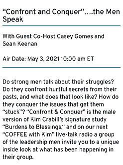 Confront and Conquer: The Men Speak