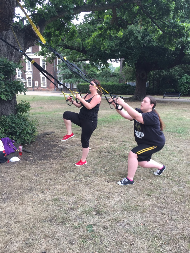 Lunges using the TRX
