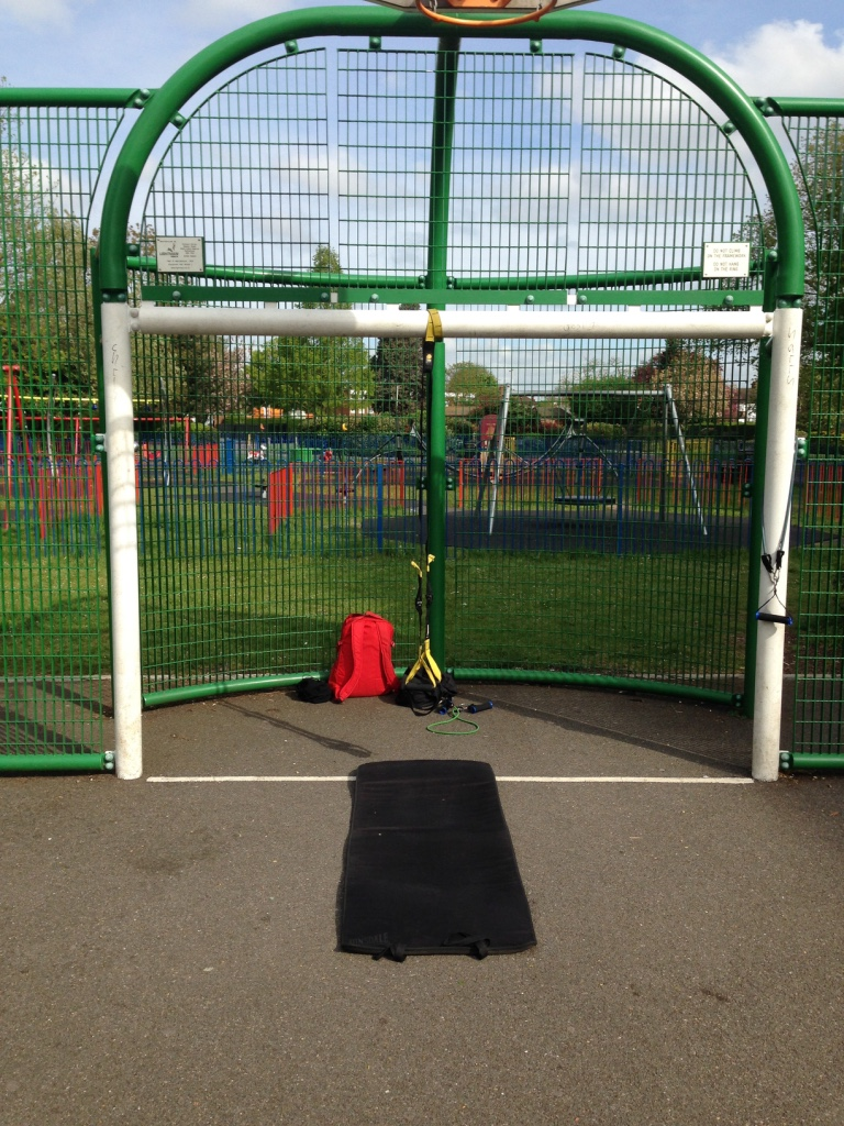 Setup for a session in he park
