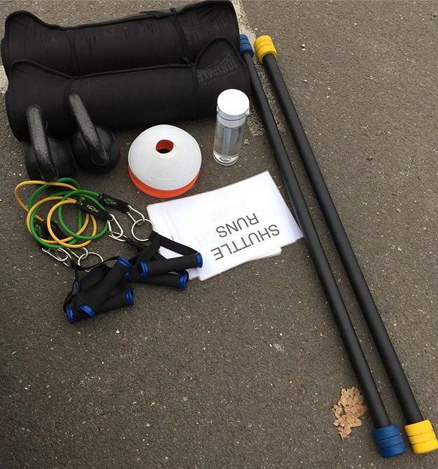 Everything ready for bootcamp with the ladies #whatalifefitness #bootcamp #london #exercise #running