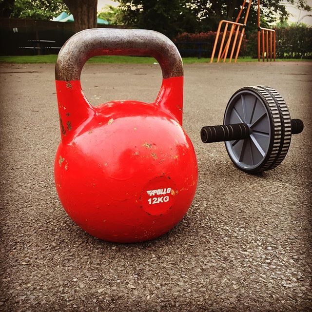 Kettlebell and Ab Roller