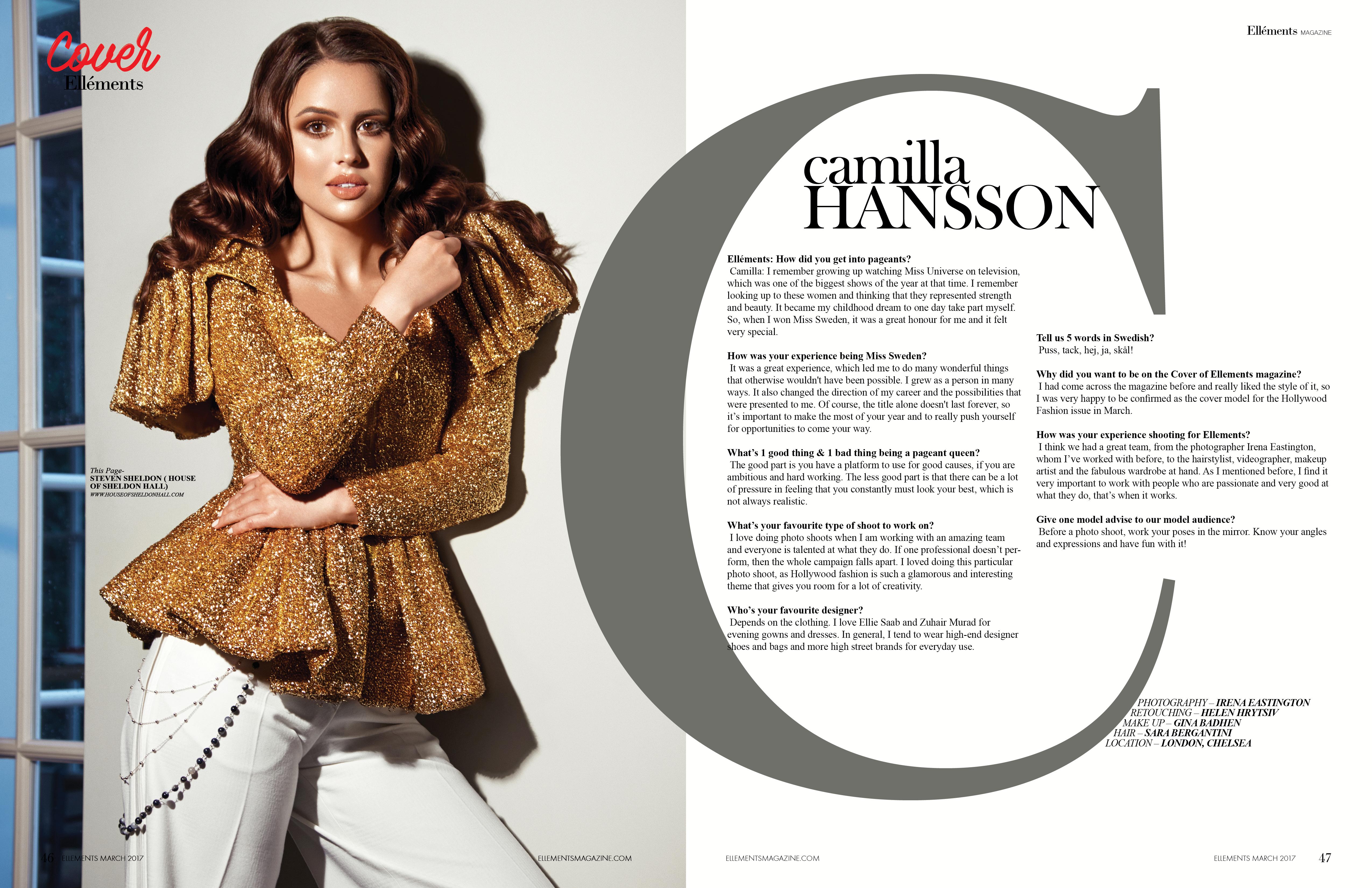 Miss Sweeden- Ellements Magazine