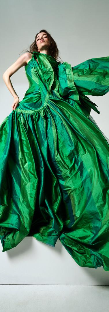 HOSH Green Silk Gown