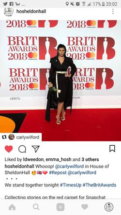Carly Wilford Brit Awards 2018