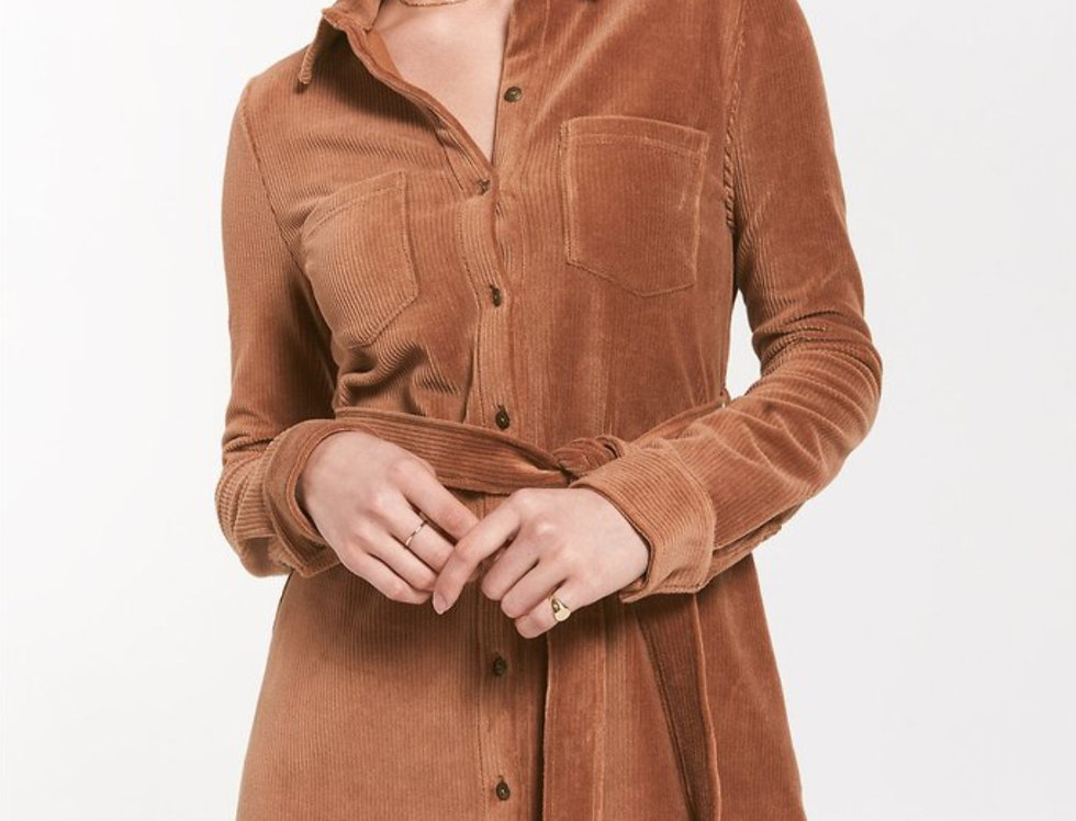 Buttoned Down in Brown Dress