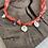 Thumbnail: Collier orange fluo médaille palmier