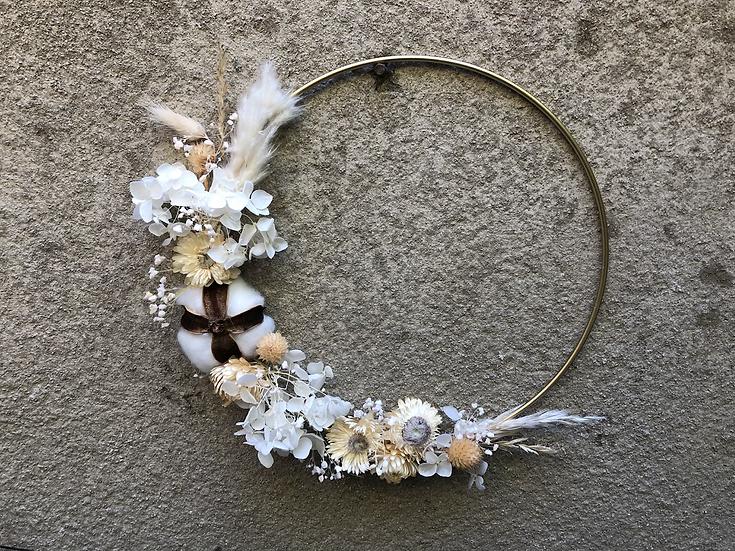 Couronne fleur séchées naturelles