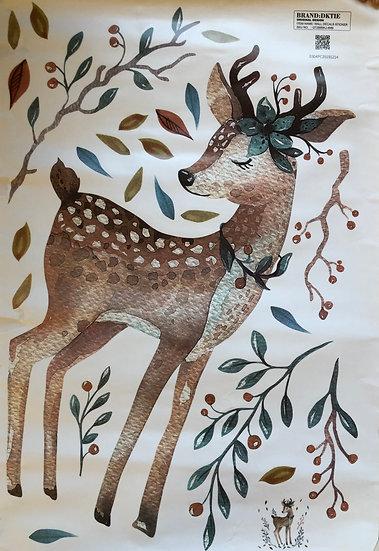 Sticker Mural cerf