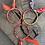 Thumbnail: Joncs orange/ orange fluo /violet rouge