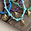 Thumbnail: Collier tie and dye violet  main