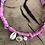Thumbnail: Collier tie and dye rose coquillage oeil rose