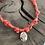 Thumbnail: Collier orange fluo croix