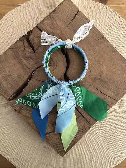 Joncs ciel/vert/bleu rose
