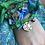 Thumbnail: Collier vert/bleu médaille serpent