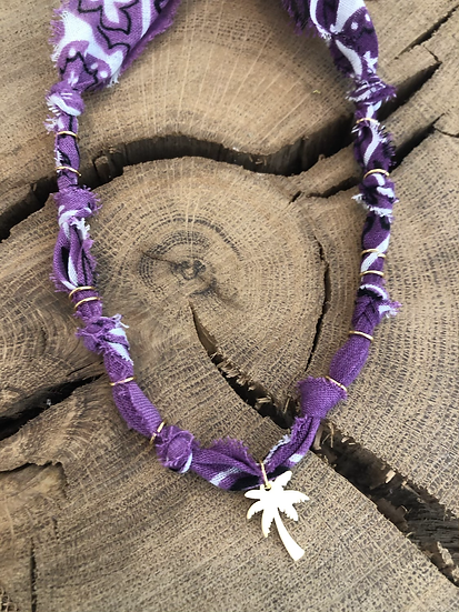 Collier Palmier tie and dye violet
