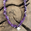Thumbnail: Collier Palmier tie and dye violet