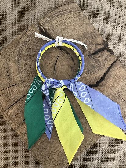 Joncs lilas/ jaune/vert
