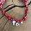 Thumbnail: Collier croix nacre medaille rouge