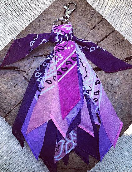 Porte clef rose/lilas/violet