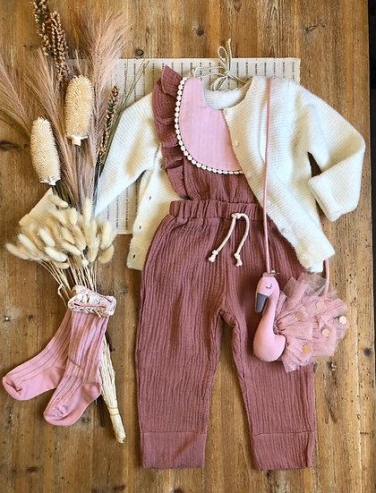 Combinaison Pantalon Fille Vieux Rose