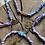 Thumbnail: Collier parme/bleu cœur