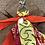 Thumbnail: Porte clefs orange jaune/orange /fuschia